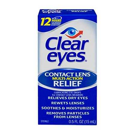 2 Pack - Clear Eyes Contact Lens Relief Multi-Action Chaque 0,5 oz