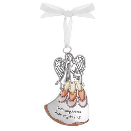 Listening Hearts Hear Angels Sing - Guardian Angel Ornament by