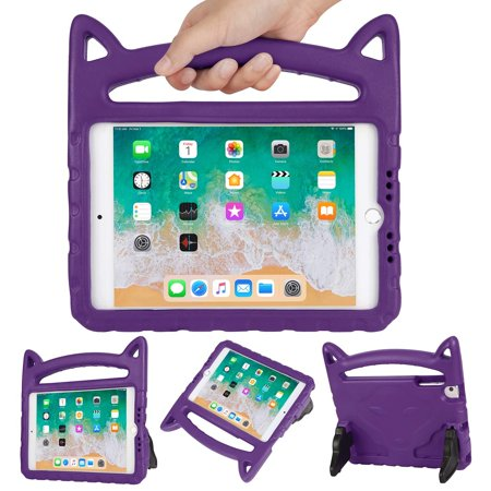 HDE Kids Cat Ear Case for iPad Mini 1/2 / 3/4 / 5 Lightweight Shockproof Case with Handle and Kickstand for Apple iPad Mini 5 (2019), Mini 4, Mini 3, Mini 2 and Original Mini