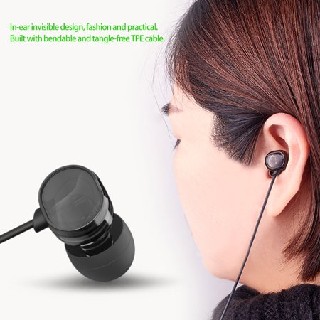 T200 3.5mm In-ear Headphones with Mic Line Control Headset Binaural Sound Earbuds Music Earphone for Phones Tablet Laptops - image 2 of 6