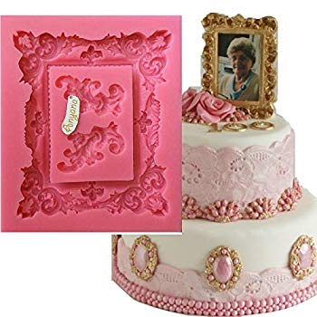 Women/'s Old Mirror Molds 3D Silicone Molds Christmas Fondant Sugar Cake Wedding Decorations Chocolate Kitchen Baking Tools