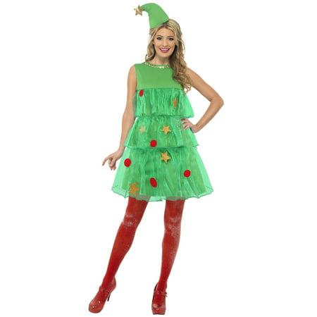 Christmas Tree Dress Adult Costume](Chrismas Costumes)
