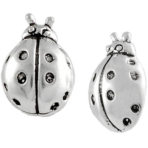 Brinley Co. Ladybug Sterling Silver Stud Earrings