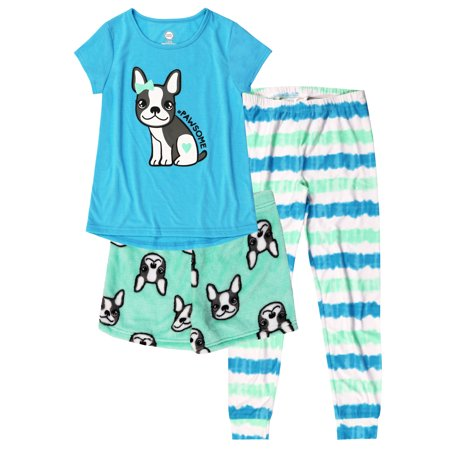 Girl's 3 Piece Pajama Sleep Set (Big Girls & Little Girls) - Flower Girl Pajamas