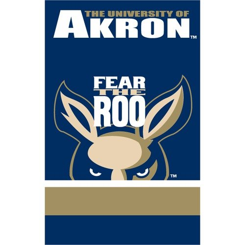 NCAA - Akron Zips 2-Sided Appliqu�� Banner Flag
