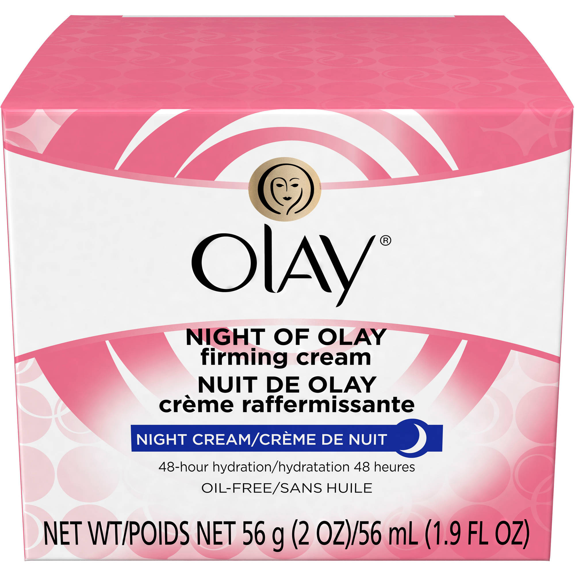 Olay Night Of Olay Firming Facial Moisturizer Cream, 2 oz