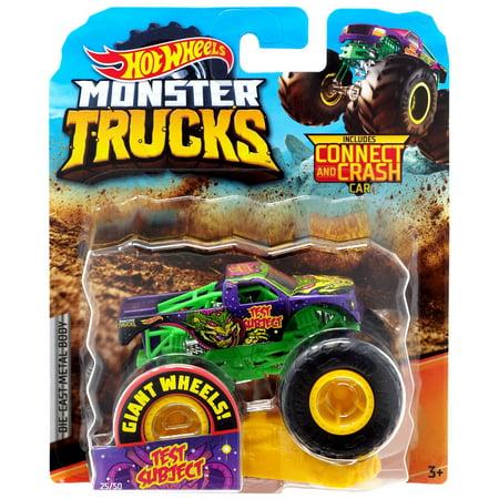 Hot Wheels Monster Trucks Test Subject Die-Cast Car [Connect & (Best Monster Truck Crashes)