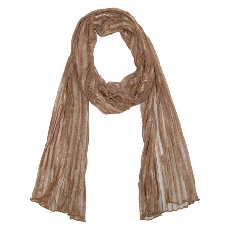 size  one size women's sheer stripe neutral dress fashion scarf