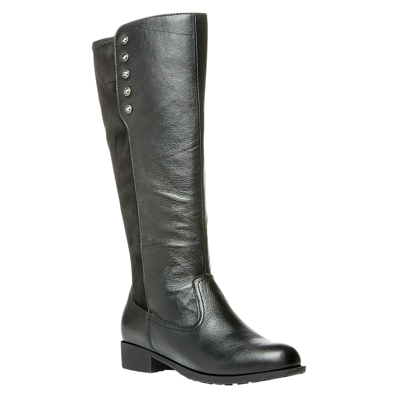 Propet Charlotte Boots Women's Mainstreet Black Black Suede by