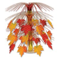 """Pack of 6 Fabric Fall Leaves Cascade Centerpiece Thanksgiving Decorations 18"""""""