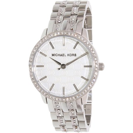 Women's Glitz MK3148 Silver Stainless-Steel Quartz