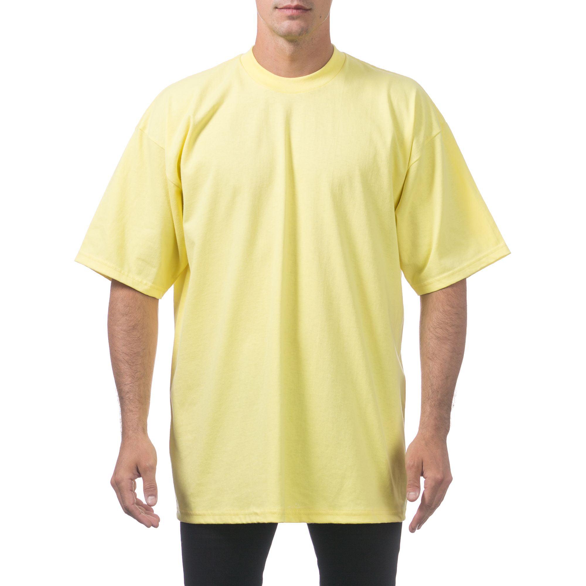 PROCLUB MEN/'S T-SHIRT PRO CLUB T-SHIRT HEAVY WEIGHT LONG SLEEVE TEE CREW NECK