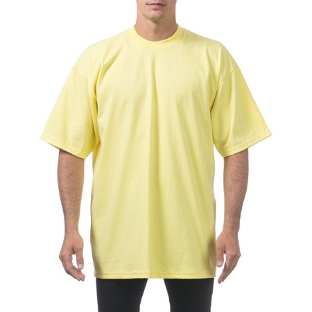 hot-selling official half price online shop Pro Club Men's Heavyweight Cotton Short Sleeve Crew Neck T-Shirt, 5XL-Tall,  Yellow