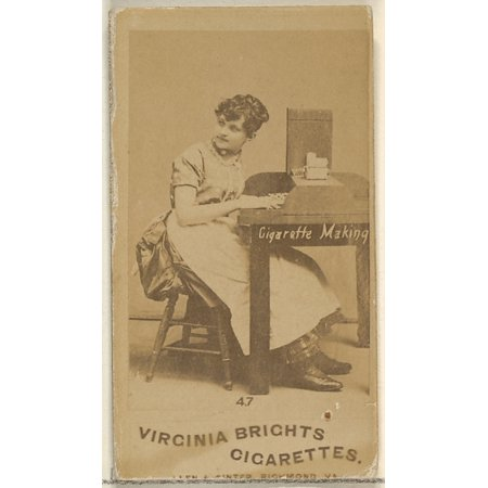 Card 47 from the series Cigarette Making Girls (N46) for Virginia Brights Cigarettes Poster Print (18 x 24)
