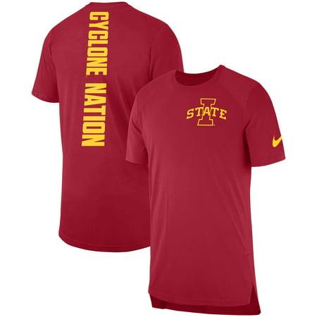 Iowa State Cyclones Nike 2018 Elite Basketball On-Court Shooter Shirt - (Nike Mens Elite Dri Fit Basketball 9 Shorts)