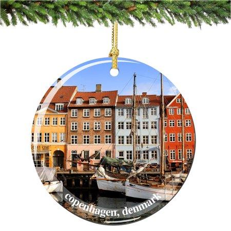 Denmark Christmas Ornament, Porcelain