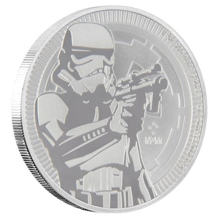 - 2018 Star Wars Stormtrooper 1 oz Silver Coin