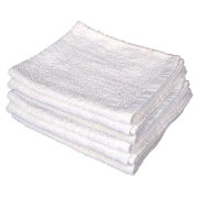 "GHP 24-Pcs White Cotton Blend 16""x27"" Economy Grade Cleaning Kitchen Hand Towels"