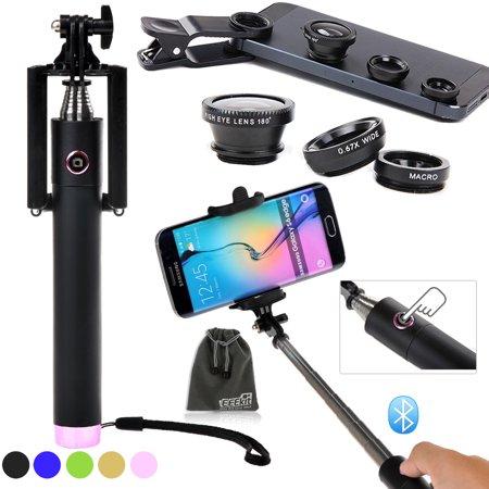 eeekit 2in1 kit for smart phones wireless bluetooth selfie stick pole fish. Black Bedroom Furniture Sets. Home Design Ideas