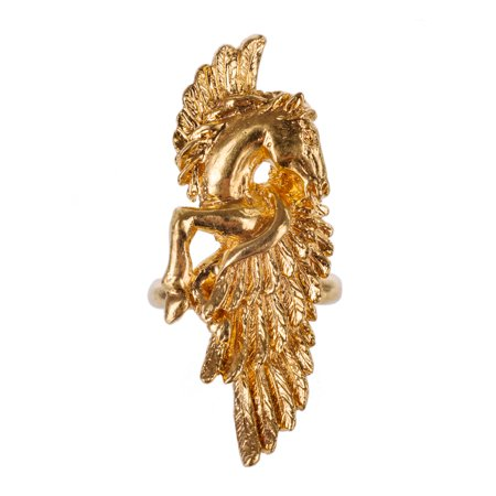 Gold Wig (Roberto Cavalli Gold Metal Open Back Winged Horse)