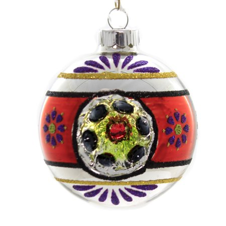 Shiny Brite Vintage Halloween (Shiny Brite DECORATED ROUNDS Glass Ornament Halloween 4026977)