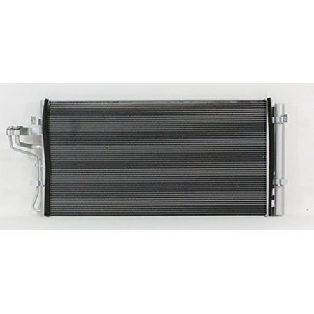 A-C Condenser - Pacific Best Inc For/Fit 4326 10-12 Hyundai Genesis Coupe 2.0L WITH Receiver & Dryer Parallel Flow