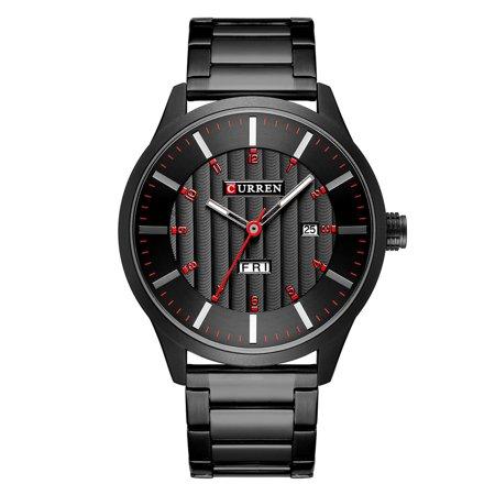 CURREN 8316 Men Watch Quartz Brand Watch Wristwatch Calendar Time Display Stainless Steel Watch