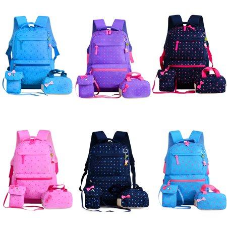3 PCS Primary School Bag Girls' Backpack Children's Backpack (Purple) - Girls School Backpack
