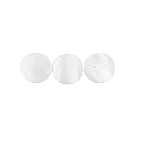 New Shell Inlay (3pcs Trumpet Valve Finger Keys Buttons Inlays White Shell Trumpet Parts Accessories)