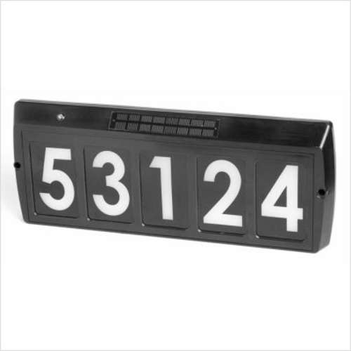 Gama Sonic Solar Charged Address Plaque