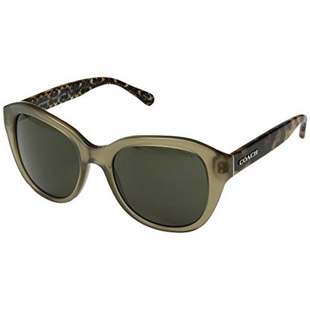 COACH Women's 0HC8231 54mm Olive/Green Solid One (Czech Olive)
