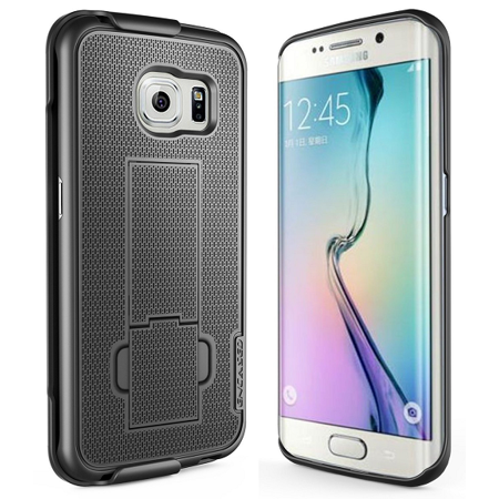 wholesale dealer 26971 1694b Samsung Galaxy S6 EDGE PLUS Belt Clip Case, Encased DuraCLIP [secure-fit]  Holster w/ Slim Cover (Smooth Black)