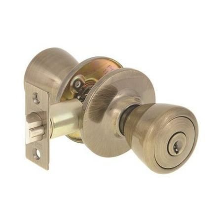 Brass Dummy Lockset - LEGEND BRASS ENTRY LOCKSET TULIP KNOB KA3 ADJUSTABLE BACKSET KW1 ANTIQUE BRASS