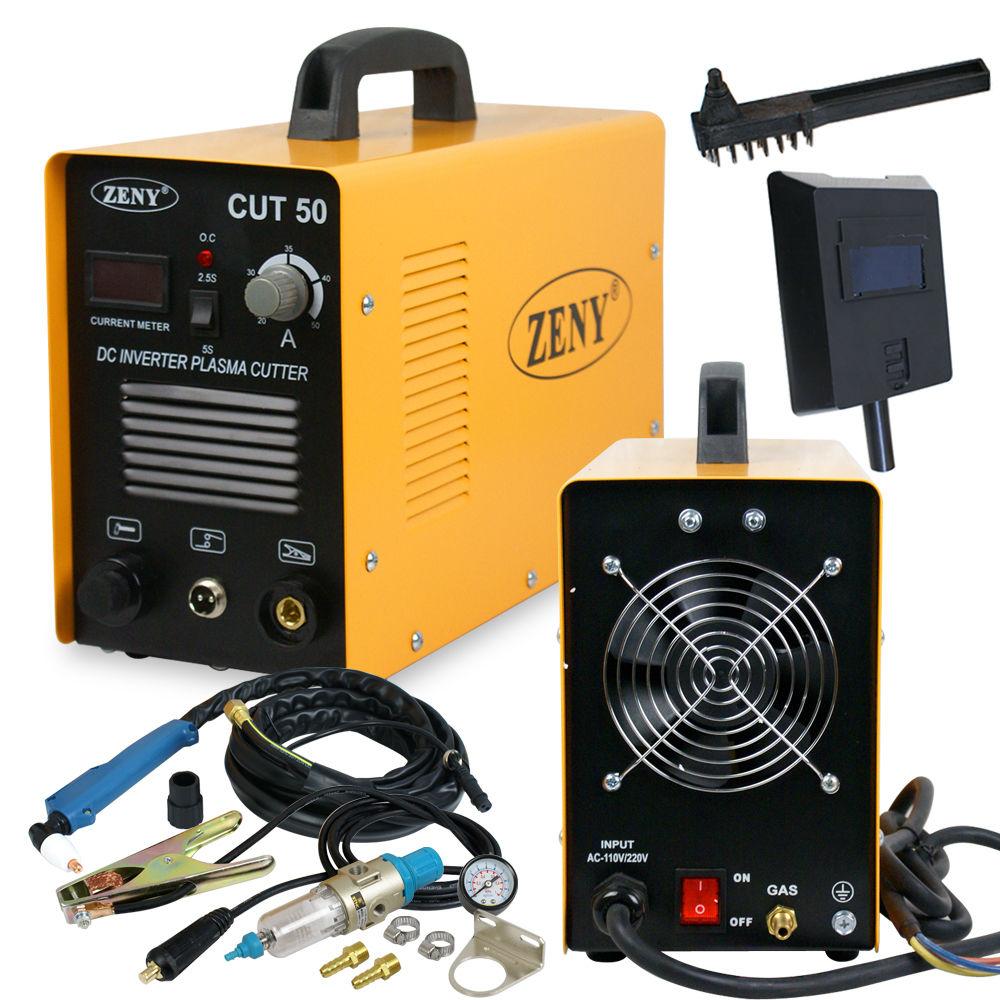 Zeny DC Inverter Plasma Cutter Welding Machine With Screen Display Dual Voltage 110/220V AC 1/2'' Clean Cut (CUT 50)