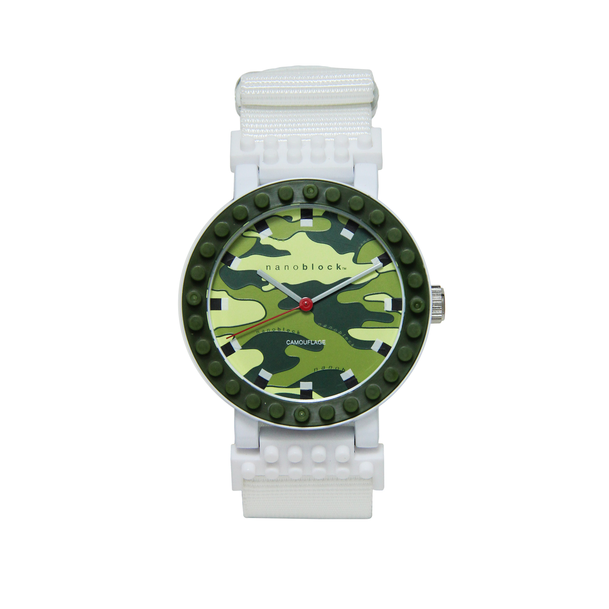 Nanoblocktime All Rounder Camo Watch, Green and White by Beta Enteprises Inc.
