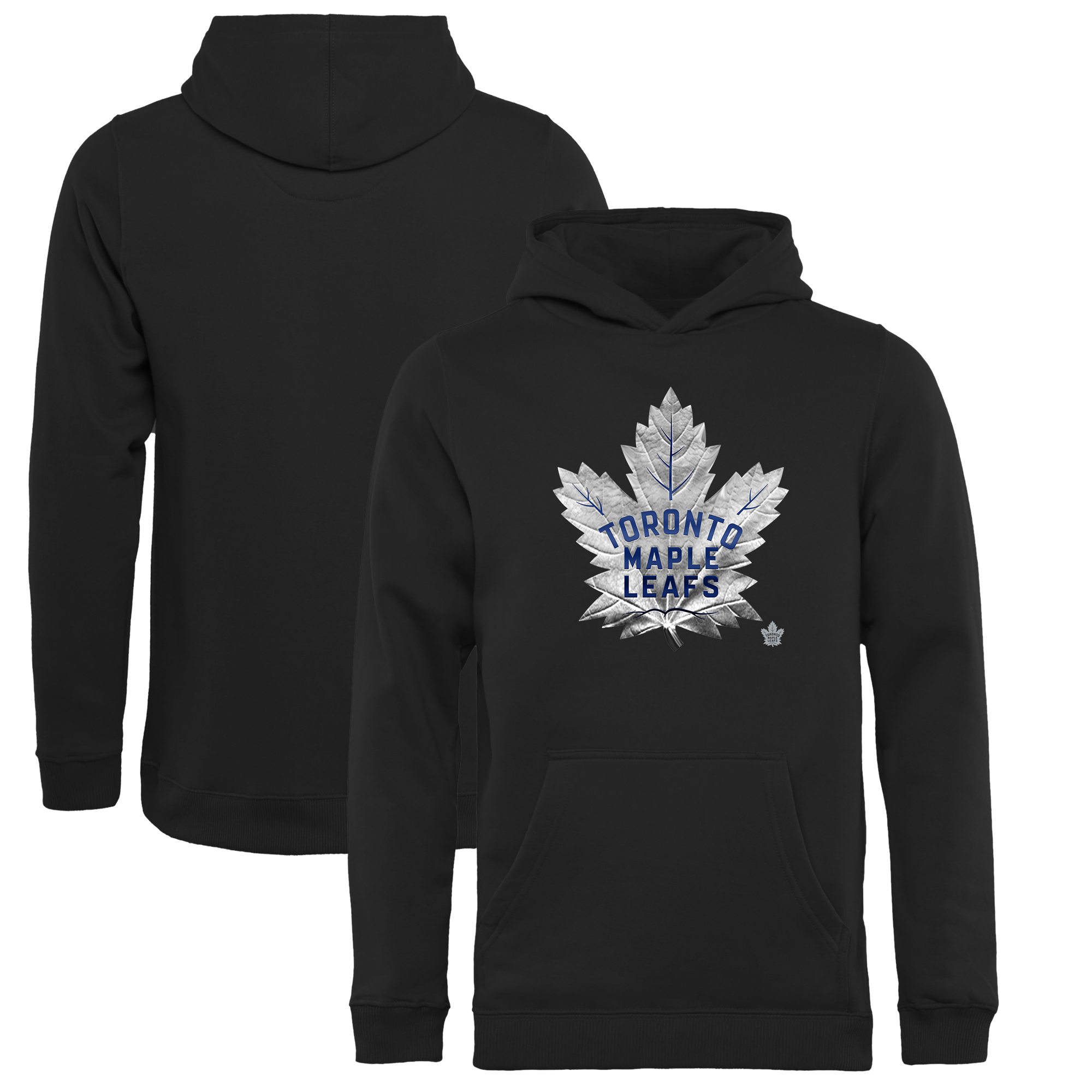 Toronto Maple Leafs Fanatics Branded Youth Midnight Mascot Pullover Hoodie - Black