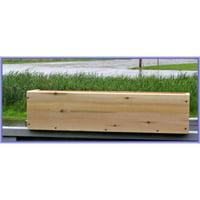 Maine Bucket PL24 24 Inch Plain Cedar Window Box - Natural