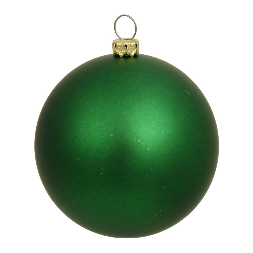 4ct matte true green uv resistant shatterproof christmas ball ornaments 6 150mm walmartcom