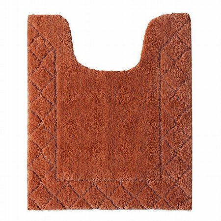 Chaps Home Rust Pumpkin Plush Pile Contour Bath Rug 20x24 Skid Resistant Mat