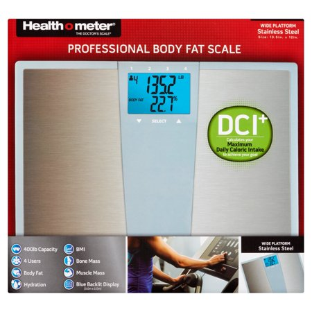 Health O Meter Stainless Steel Body Fat Bath Scale With Daily Caloric Intake Technology  Bfm144