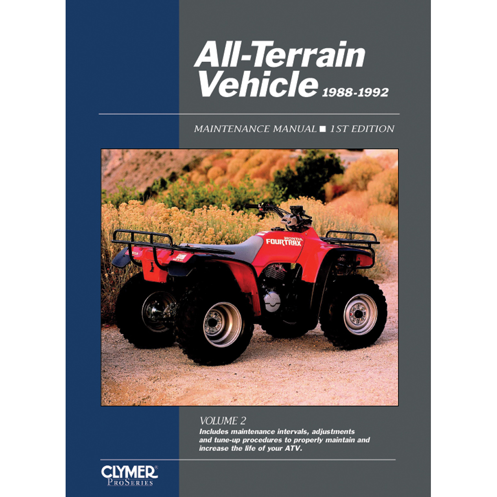 CLYMER ALL-TERRAIN VEHICLES VOL 2, 1988-1992 ATV21