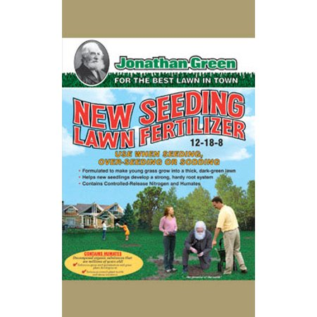 Jonathan Green 12-18-8 New Lawn Starter Fertilizer For All Grass Types 15 lb. 5000 sq. ft. - Case Of: 1