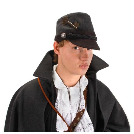 Steampunk Grey Cadet Costume Hat Adult One Size
