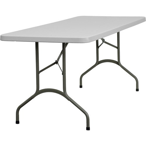 Folding Table 30W in. Granite White by Generic
