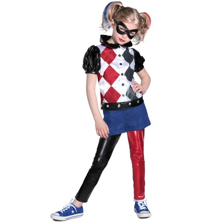 DC SuperHero Deluxe Harley Quinn Costume for Kids - Harley Quinn Stocking