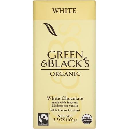 Green & Black's Organic White Chocolate with Vanilla, 30% Cacoa, 3.5 Oz