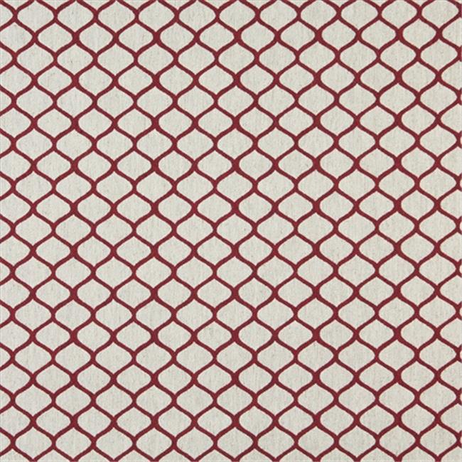 Designer Fabrics K0005A 54 in. Wide Red And Off White, Modern, Geometric, Designer Quality Upholstery Fabric