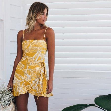 d43f6b1828a UKAP - Sexy Women Fashion Dresses 2018 Summer Print Sling Dress Sleeveless  Casual Dress - Walmart.com