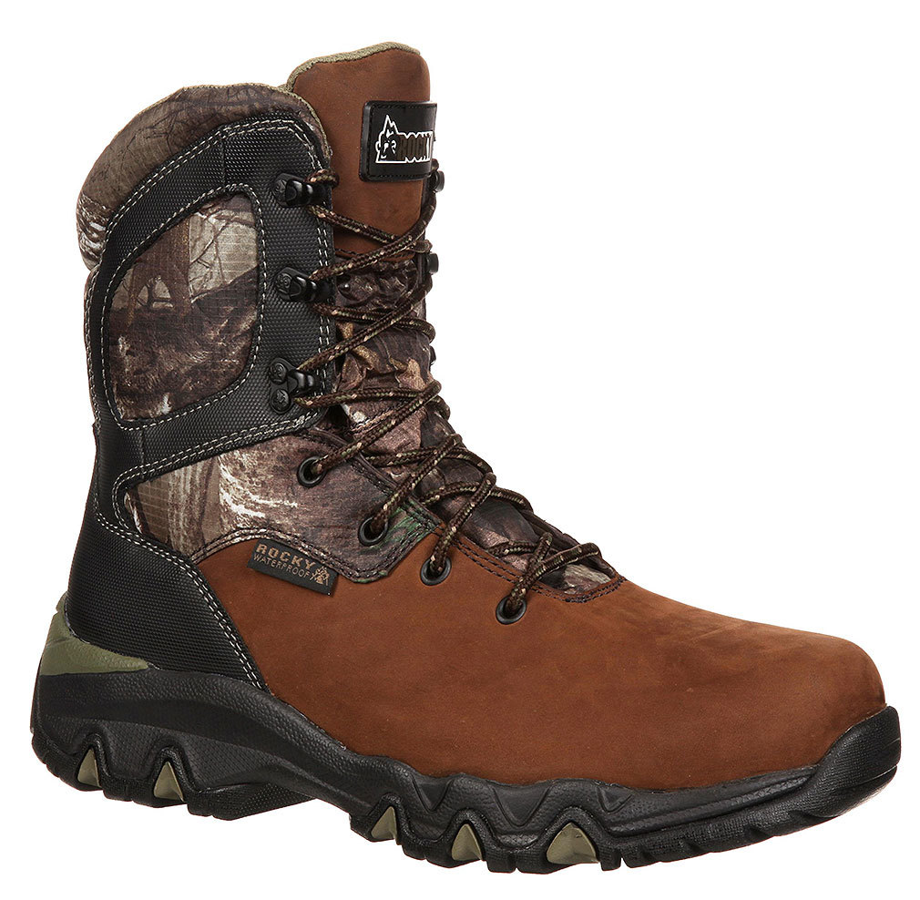 """Rocky Men's 8"""" Bigfoot WP Brown Hunting Boot 9 XW by"""