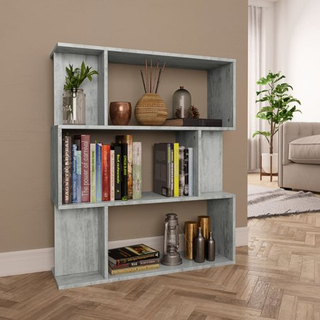 FAGINEY Book Cabinet/Room Divider Concrete Gray 31.5